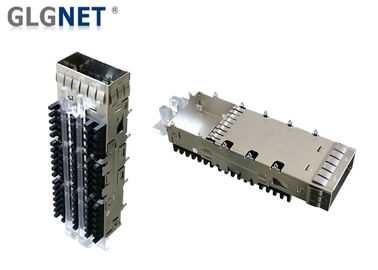 Single Port SFP Cage Connector Press Fit Or Solder Post Mount Type